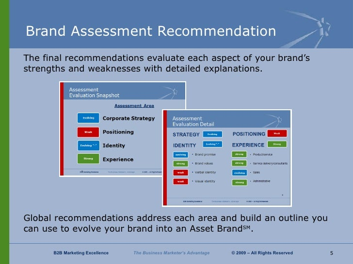 brand assessment This brand strategy plan template from the brand and content guru provides you the brand strategy plan for client name requires a full and detailed assessment of the.