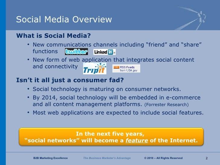B2B Marketing Excellence Social Media Overview Slide 2