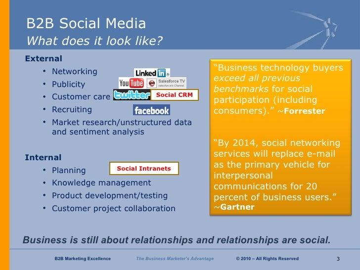 B2B Marketing Excellence Social Media Overview Slide 3