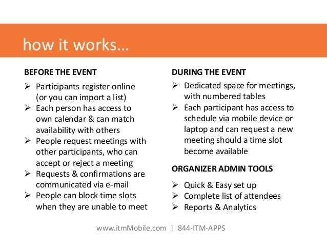Event matchmaking software