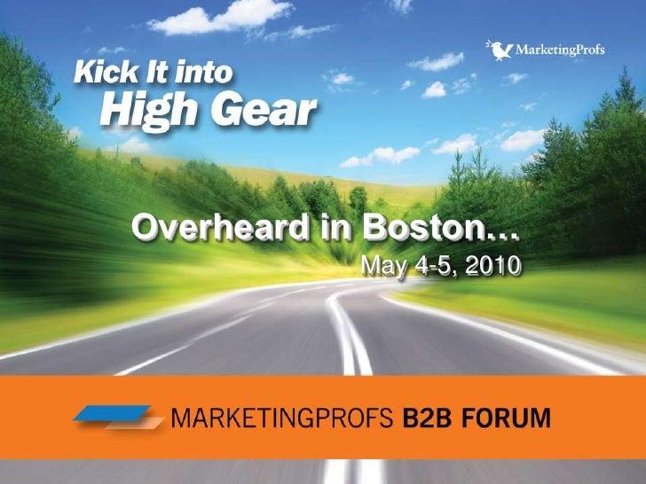 Overheard in Boston…May 4-5, 2010<br />