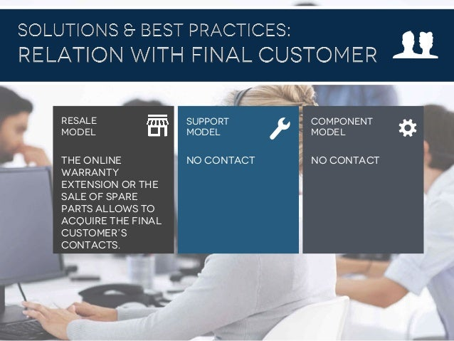 #B2B2016 The online warranty extension or the sale of spare parts allows to acquire the final customer's contacts. No cont...