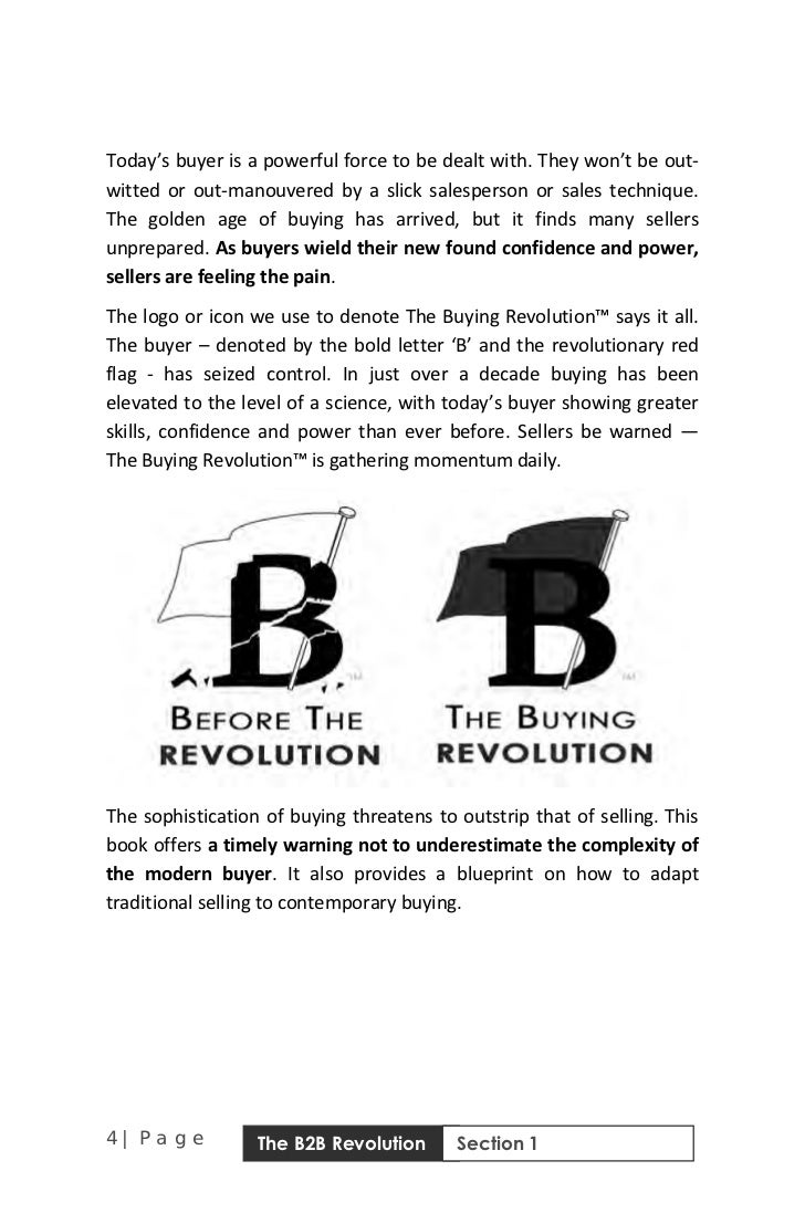 The b2b sales revolution free sample of the book revolution section 1 5 malvernweather Choice Image