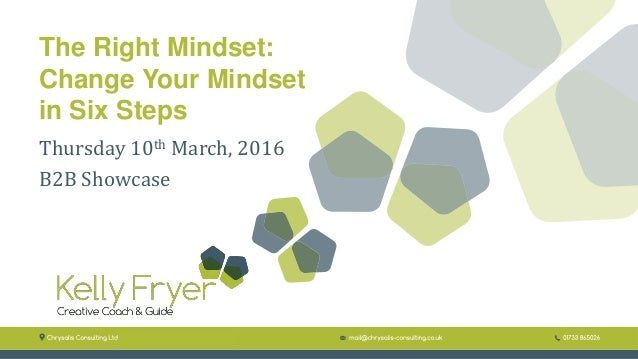 The Right Mindset: Change Your Mindset in Six Steps Thursday 10th March, 2016 B2B Showcase