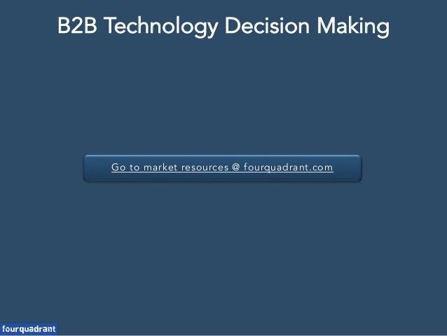 Go to market resources @ fourquadrant.com B2B Technology Decision Making
