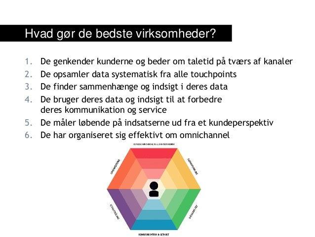 1. De genkender kunderne og beder om taletid på tværs af kanaler 2. De opsamler data systematisk fra alle touchpoints 3. D...