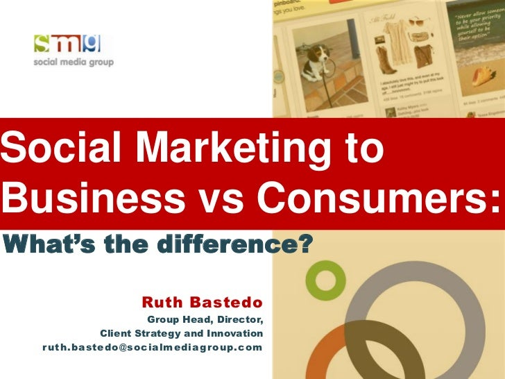 Social Marketing toBusiness vs Consumers:What's the difference?                   Ruth Bastedo                     Group H...