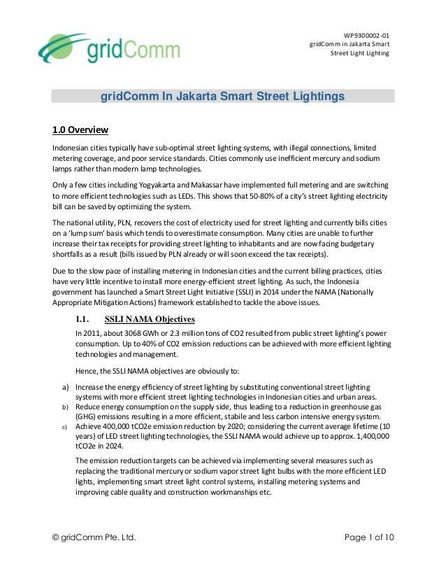 gridcomm in jakarta smart street light system white paper