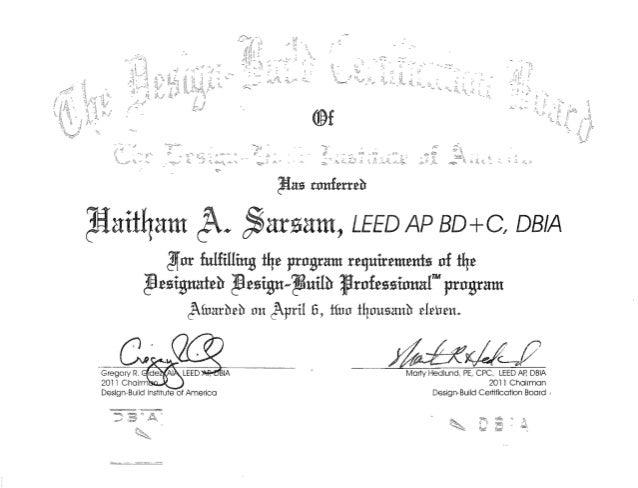 certificate dbia slideshare upcoming