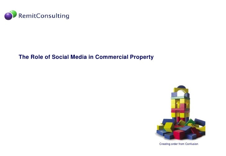 The Role of Social Media in Commercial Property<br />