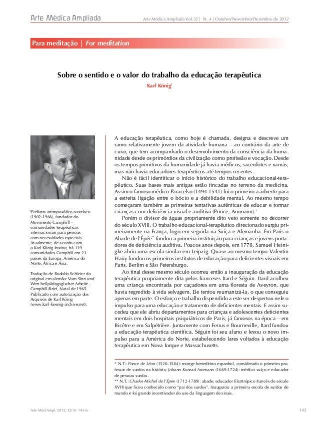 143 Arte Médica Ampliada I Pediatra antroposófico austríaco (1902-1966), fundador do Movimento Camphill – comunidades tera...