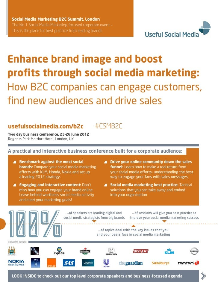 Social Media Marketing B2C Summit, London   The No 1 Social Media Marketing focused corporate event –   This is the place ...