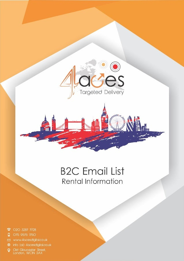 B2C Email List Rental Information with Special Offers