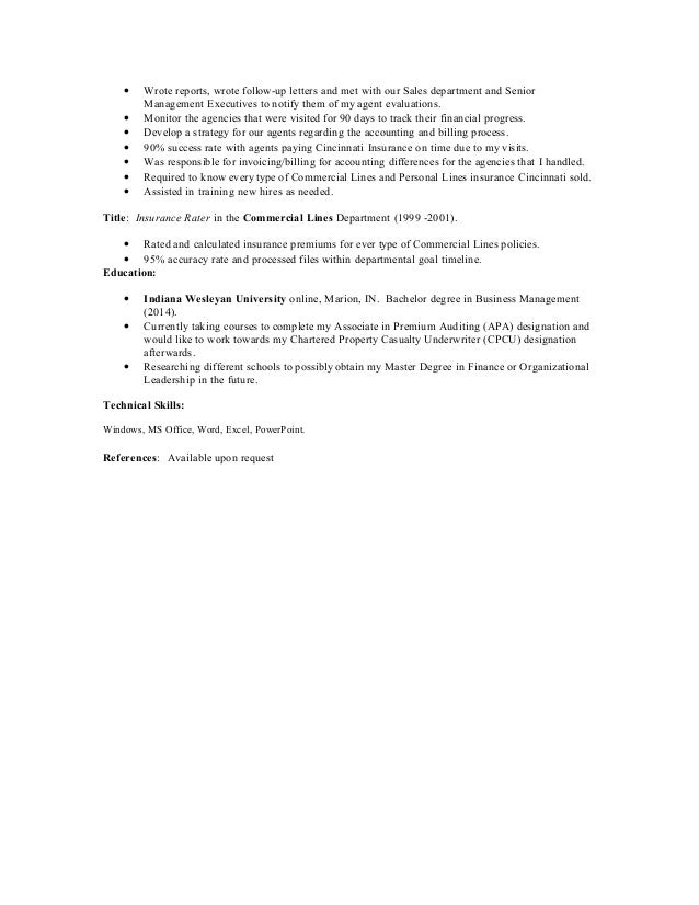 liberty mutual audit resume
