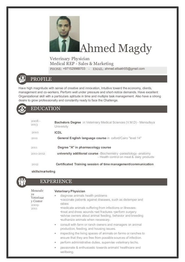 medical representative resume