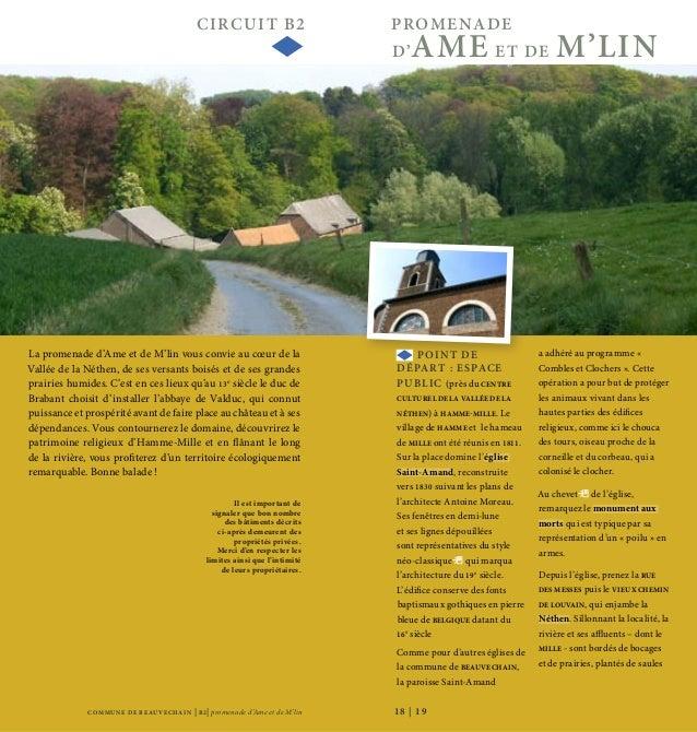 COMMU NE DE BEAU VECHAIN | B2| promenade d'Ame et de M'lin CIRCUIT B2 PROMENADE D'AME ET DE M'LIN 18 | 19 CIRCUIT B2 PROME...