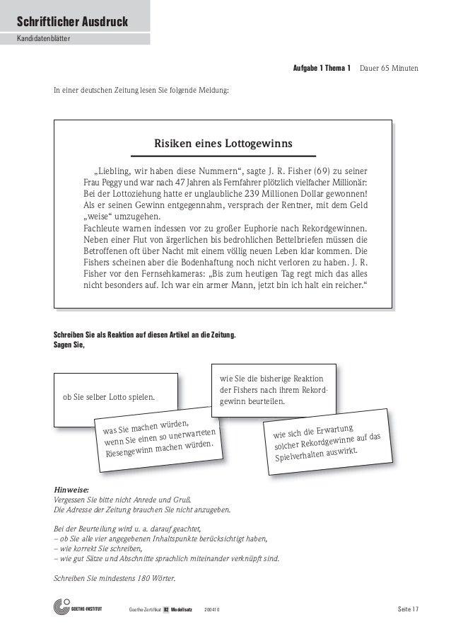 Beispiel Briefe Für B2 B Prüfung Beschwerde Brief Youtube