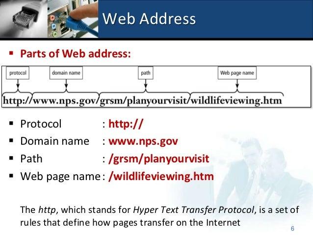 2.2.2.2 Web Address