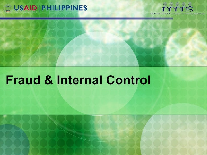 Fraud & Internal Control