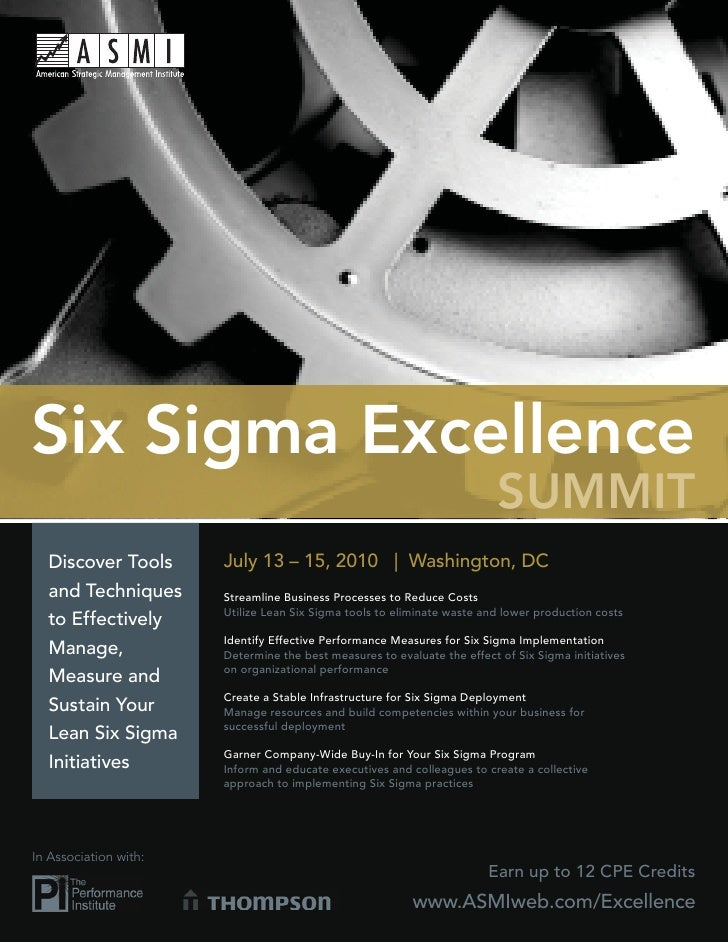 Six Sigma Excellence                                                                           SUMMIT   Discover Tools    ...