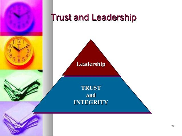 2424 Trust and LeadershipTrust and Leadership LeadershipLeadershipLeadershipLeadership TRUSTTRUST andand INTEGRITYINTEGRIT...