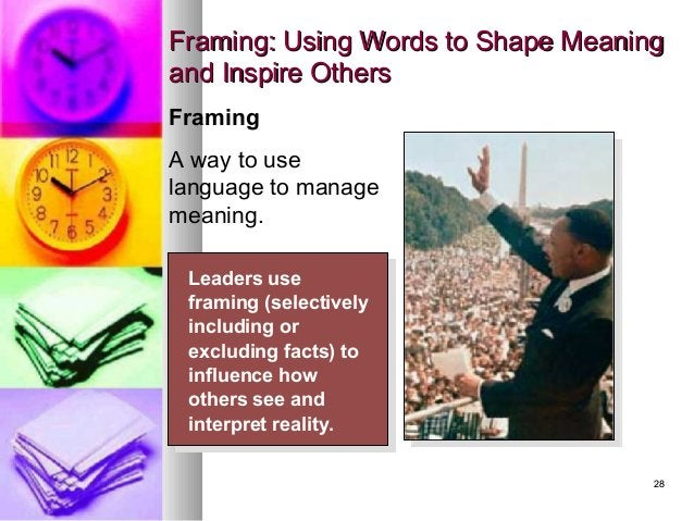 2828 Framing: Using Words to Shape MeaningFraming: Using Words to Shape Meaning and Inspire Othersand Inspire Others Leade...