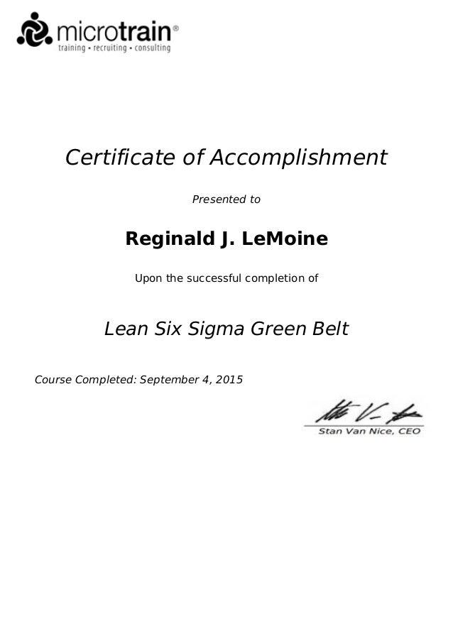 LSS Cert of Accomplishment