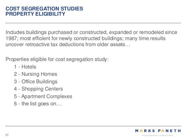 Cost Segregation Study Docmentation with Form 3115 ...
