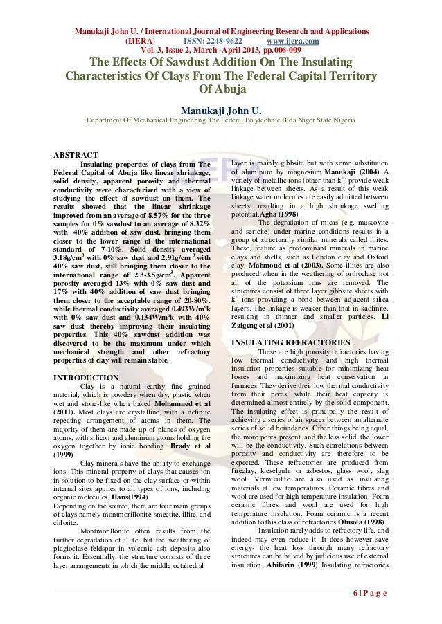 Manukaji John U. / International Journal of Engineering Research and Applications                   (IJERA)           ISSN...