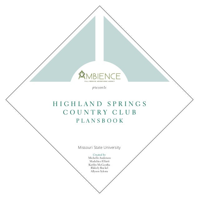 3 Highland Spring's country club is a well-established golf course in Springfield Missourithatoffersfamilyorientedprograms...