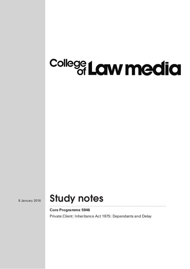 5946 Study notes