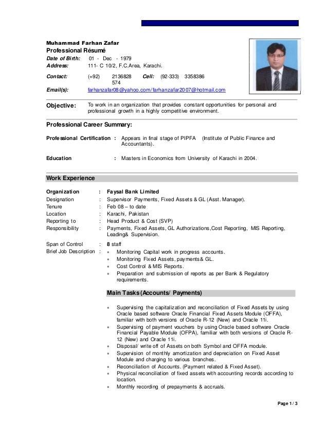 CV -Farhan (Asset Manager Accounts) UPDS