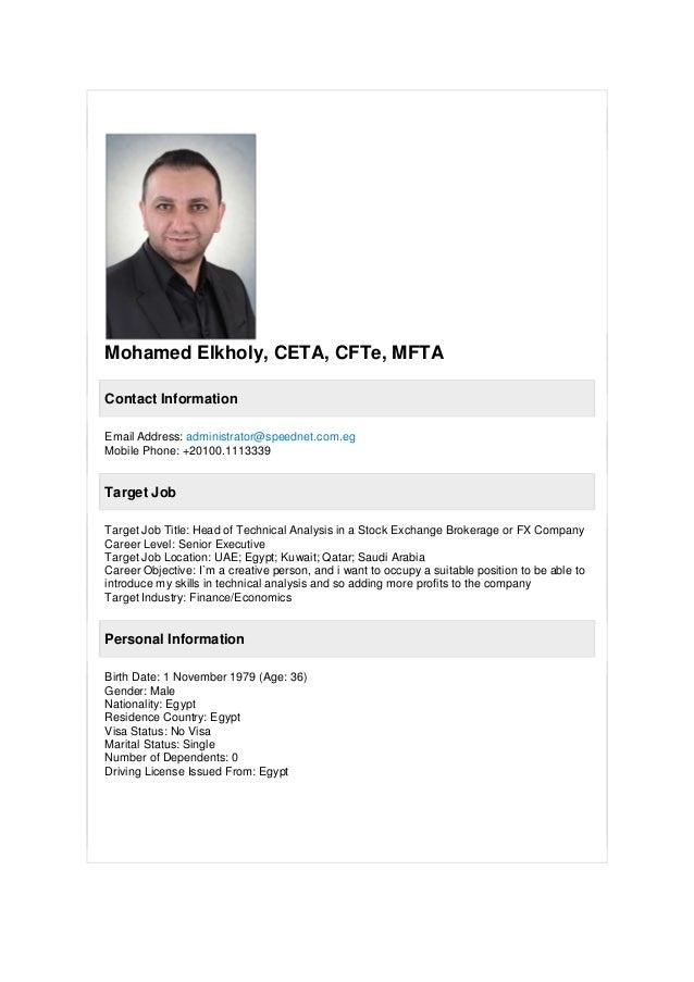 Mohamed Elkholy, CETA, CFTe, MFTA Contact Information Email Address: administrator@speednet.com.eg Mobile Phone: +20100.11...