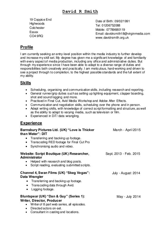 CV diverse 07.04.15