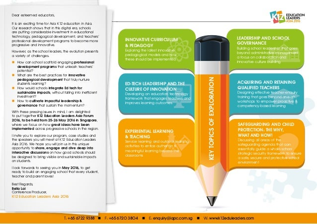 Dear esteemed educators, It is an exciting time for Asia K12 education in Asia. Our research shows that in this digital er...