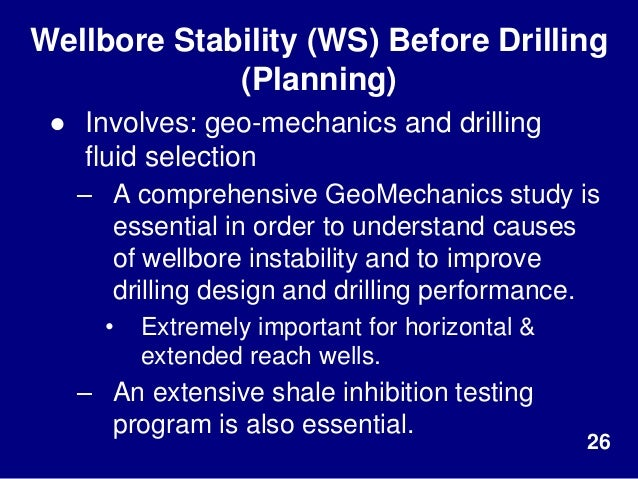 wellbore instability and borehole breakout The instability of a wellbore is still one of  of wellbore stability to minimize drilling challenges and non  in borehole collapse or breakout.
