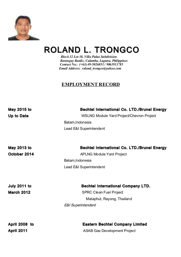 RTrongco Resume