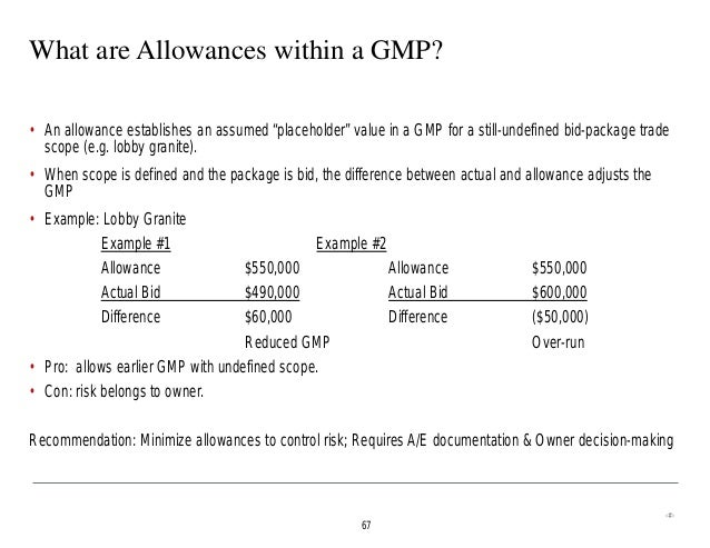 Generic comparing different construction delivery for Allowances in construction contracts