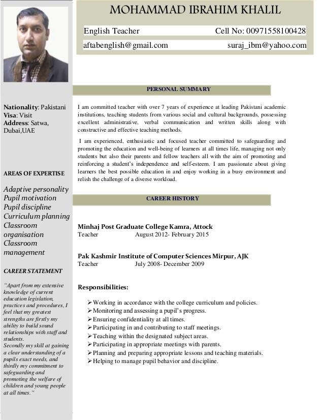 english-teacher-cv-1-638 Teacher Curriculum Vitae Examples on art teacher examples, resume teacher examples, application letter teacher examples, about me teacher examples,