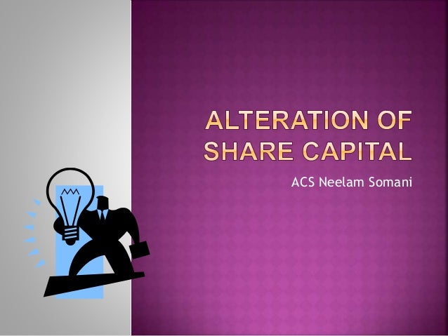 Alteration of share capital - Oxford Reference
