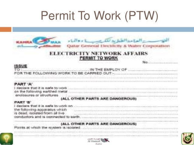 working at height permit to work template - gtc546 hse ppt