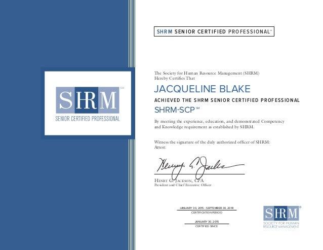 Jacqueline Blake Scp Certificate
