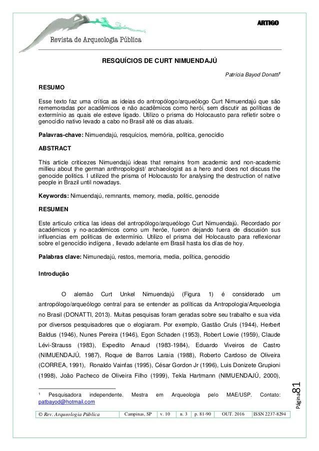 ARTIGO © Rev. Arqueologia Pública Campinas, SP v. 10 n. 3 p. 81-90 OUT. 2016 ISSN 2237-8294 Página81Página81 RESQUÍCIOS DE...