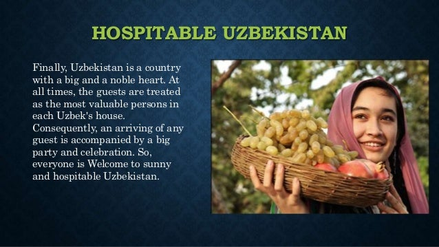 my motherland is uzbekistan Uzbekistan travel safety tips this beautiful, historic central asian country has a lot to recommend it, for the travel aware  i'm citizen of uzbekistan, tashkent and have been living now in las vegas, nv, usa for 4 years i love my motherland for it's people, nature and safety.