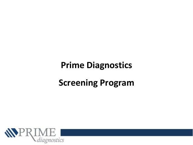Prime Diagnostics Screening Program