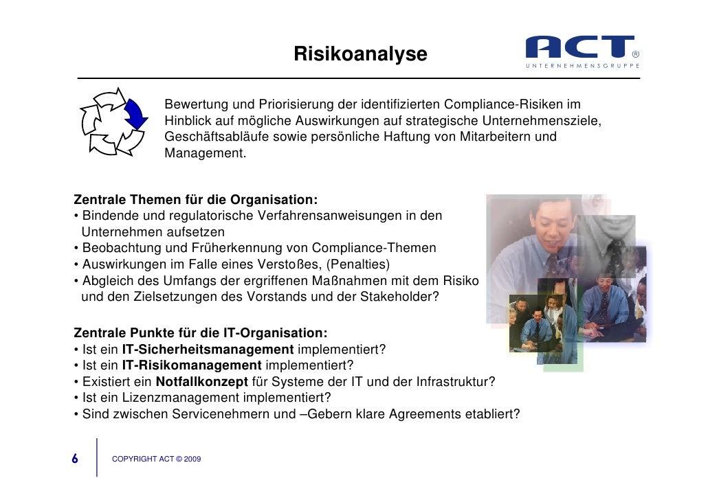 Risikoanalyse                   Bewertung und Priorisierung der identifizierten Compliance-Risiken im                  Hin...