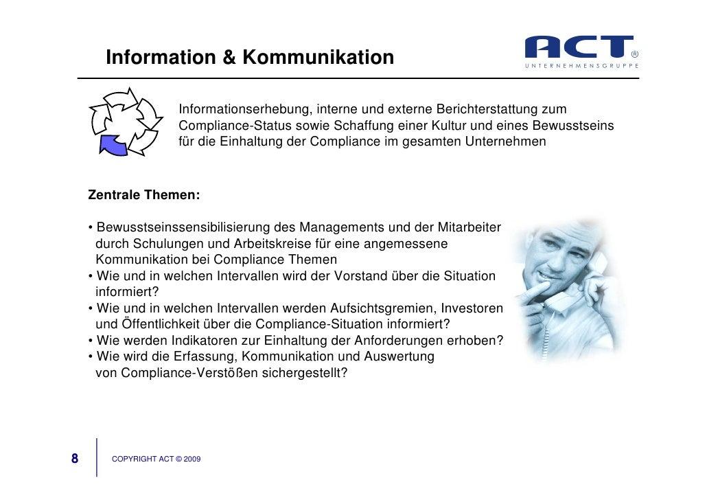 Information & Kommunikation                        Informationserhebung, interne und externe Berichterstattung zum        ...