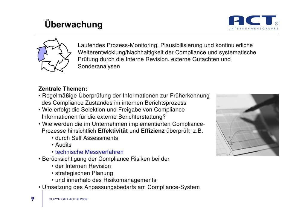 Überwachung                        Laufendes Prozess-Monitoring, Plausibilisierung und kontinuierliche                    ...
