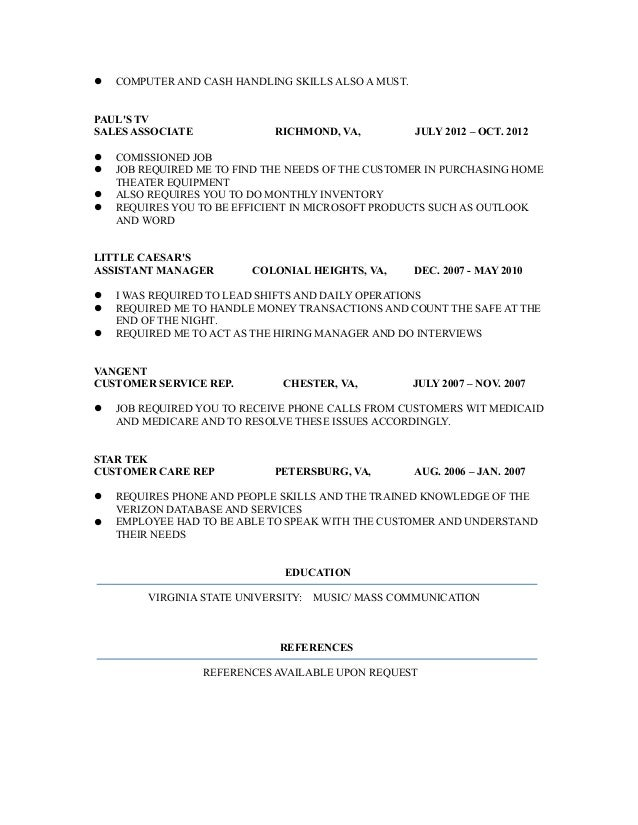 chevin winfield revised resume