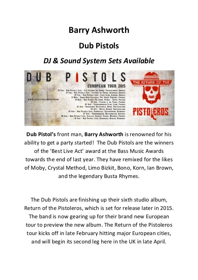 Barry	   Ashworth	   	    Dub	   Pistols	    DJ	   &	   Sound	   System	   Sets	   Available	    	    Dub	   Pistol's	   f...